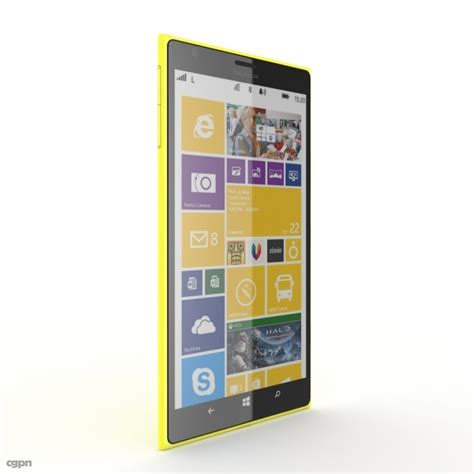 yellow nokia lumia 1520 nokia lumia 1520 yellow 3d model cgstudio