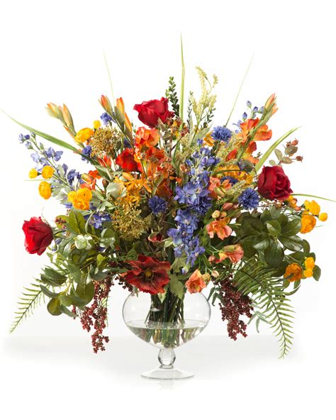 glorious garden silk flower centerpiece at silkflowers com
