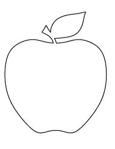 apple pattern use the printable outline for crafts
