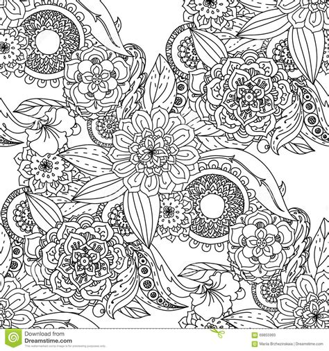 coloring pages for adult in zenart style antistress coloring page flowers and butterflies stock vector illustration of