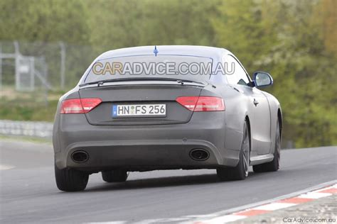 2009 Audi Rs5 by 2009 Audi Rs5 Spied With Spoiler Photos 1 Of 5