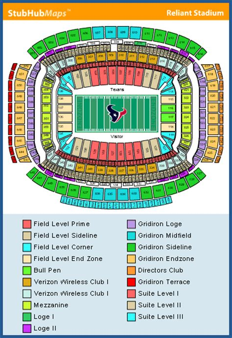 houston texans seating rows reliant stadium seating chart pictures directions and