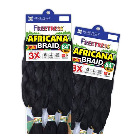 84 inch kanekalon hair shake n go freetress 3x africana braid 84 inch