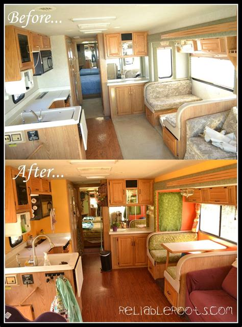 travel trailer remodel 9 rv remodel before and after rv rvremodel before after