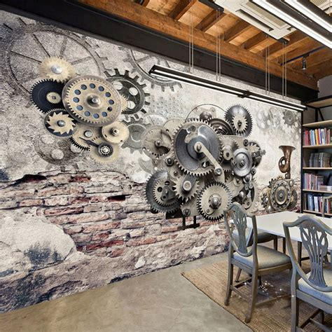 mechanical decor compare prices on mechanical wallpaper online shopping
