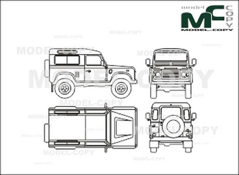 land rover drawing landrover defender 90 drawing 26288 model copy