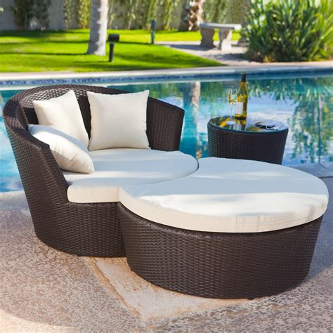 outdoor wicker chairs with ottomans luxurious wicker outdoor chaise lounge chair with curved