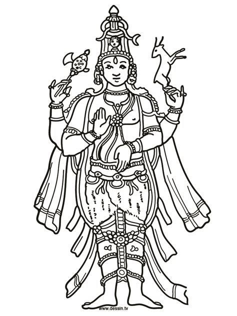 free shiva parvati coloring pages