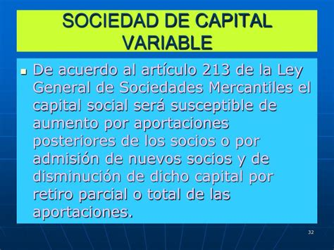 liquidacion de una sociedad anonima de capital variable ppt derecho mercantil powerpoint presentation id 4116721