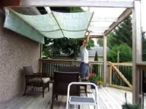 diy retractable awnings diy retractable pergola canopy awning youtube home diy