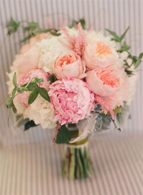 stunning pink peonies greens white roses centerpiece bloomful blog floral design how to s inspiration