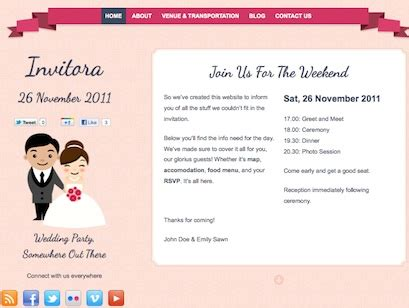 Wedding Announcements Websites by How To Create A Stunning Wedding Invitation Website With