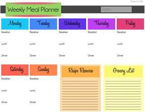 food planner template domestic8d march organization weekly meal planning