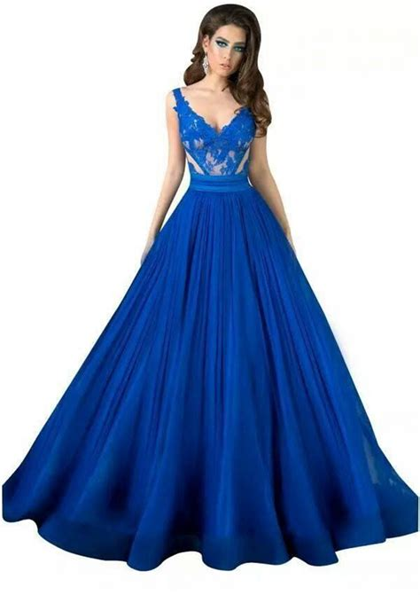 blue gown dressed up
