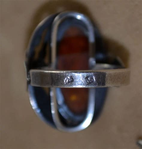 Ring Silver Oke sterling silver ring nouveau revival 1970 s