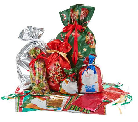 kringle express 58 piece e z drawstring holiday gift bag