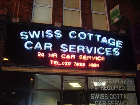 swiss cottage cars sign solution neon signs