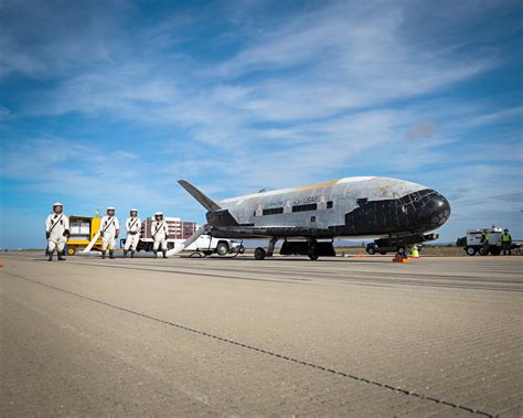 military air vehicles mysterious military x 37b space plane lands after nearly