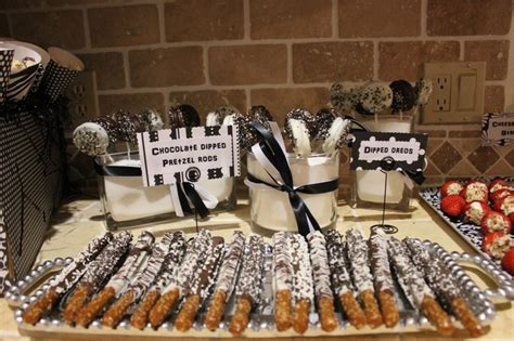 Black and white themed party treats b w party ideas pinterest