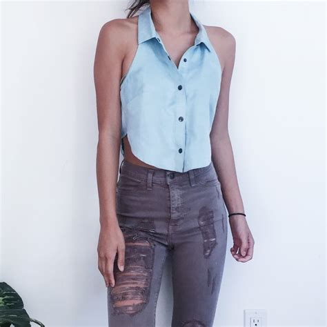 is my period too light to wear a ton light blue suede sleeveless crop top my closet
