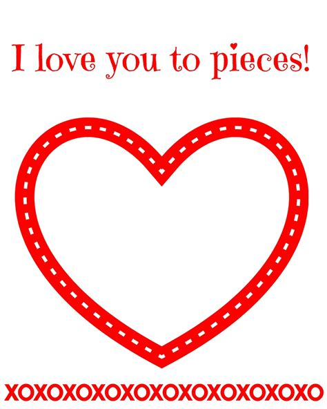 i you to pieces s day card template east coast simple s day craft for