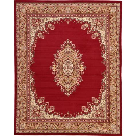burgundy area rugs 8 x 10 unique loom mashad burgundy 8 ft x 10 ft area rug 3119180 the home depot