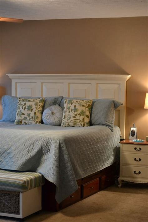 how to make headboard from door diy headboard project ideas the idea room