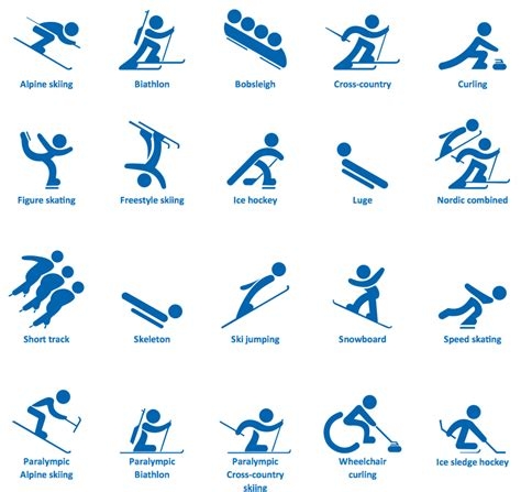 the gallery for gt winter olympic sports symbols