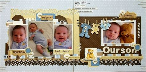 double layout scrapbook pages scrap utopia ourson cs 192 another kristine sketch