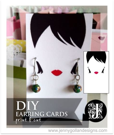 earring card template design jenny gollan designs diy