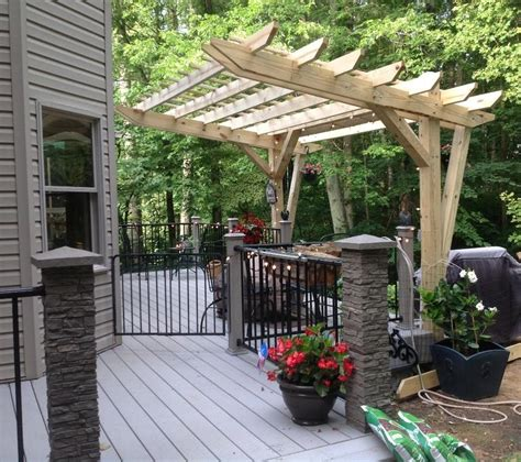 Hardwood Trellis Hometalk Cantilevered Pergola Diy Designed And Built