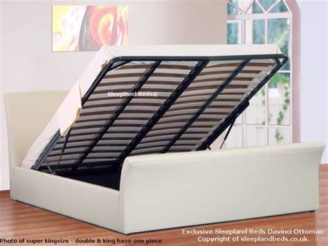 small double ottoman storage bed details about white 4ft small double ottoman sleigh bed