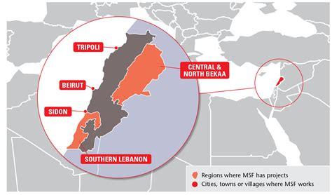 Find Lebanon Msf Focus On Lebanon