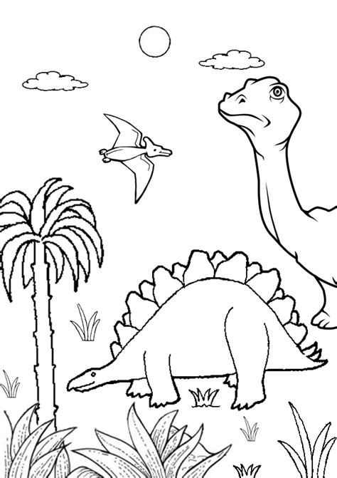 dinosaur jungle coloring page colouring pages dinosaurs printable 8 best the good