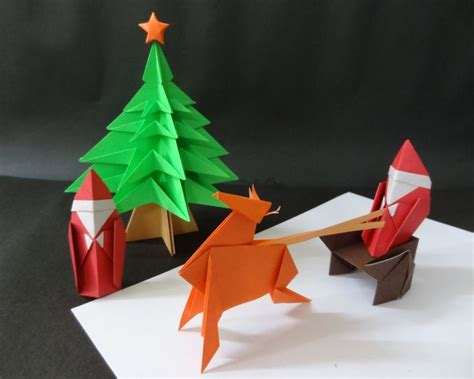 origami xmas decorations origami the diy creations to complement decorations inspirationseek