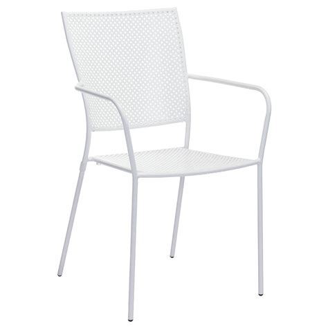 White Outdoor Dining Chair Phoebe White Modern Outdoor Dining Chair Eurway