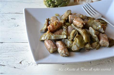 come cucinare i carciofi in padella salsiccia e carciofi in padella secondo piatto con