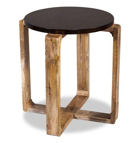 Rustic Side Table Contra Modern Mid Century Modern Rustic Wood Side Table Kathy Kuo Home