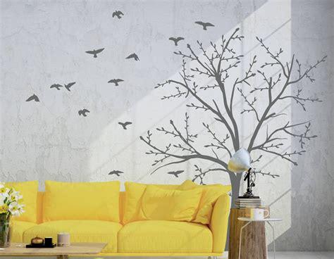 bird and tree wall stickers tree and birds wall sticker set contemporary wall stickers