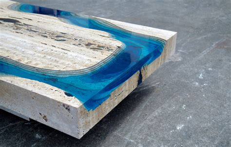 Creatively Designed by Marble And Resin Tables Incorporate The Soothing Depth Of
