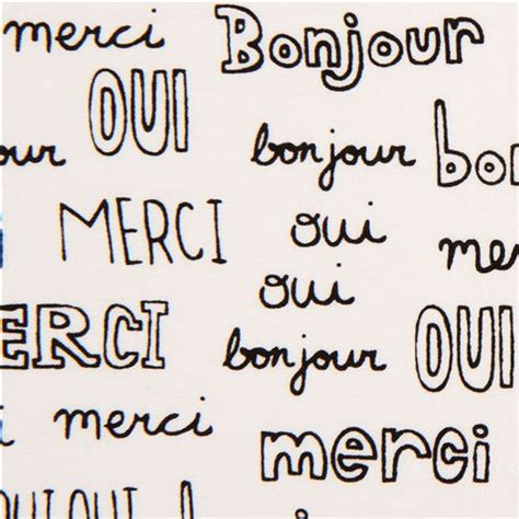 imagenes de palabras en frances white french words fabric by robert kaufman usa retro