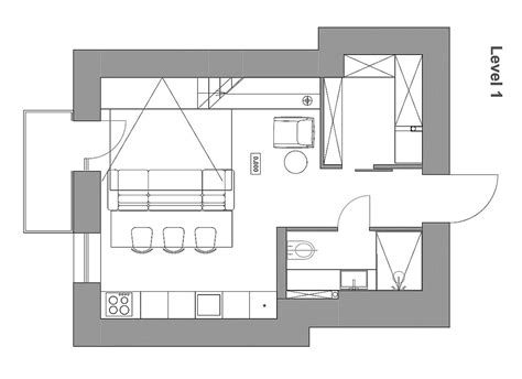small loft apartment floor plan mezzanine level bedroom adds extra space to small kiev