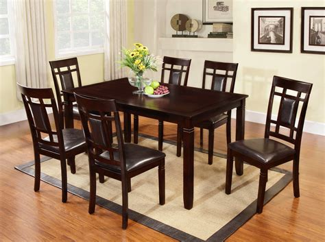 global furniture dining room sets global trading cappuccino 7 piece dining set dining room