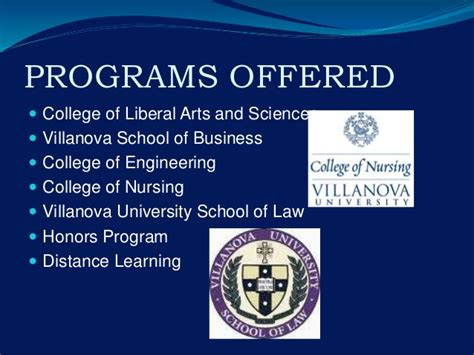 Tuition Cost For Villanova Mba by Villanova
