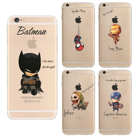 For Iphone 5 5s Se Soft Superman Captain America Casing 5 5s Se 2 batman coque soft tpu phone for apple iphone 5 5s se 6 6s 6plus iron