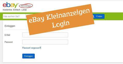 ebay kleinanzeigen login ebay kleinanzeigen login hier gibt s schnelle hilfe