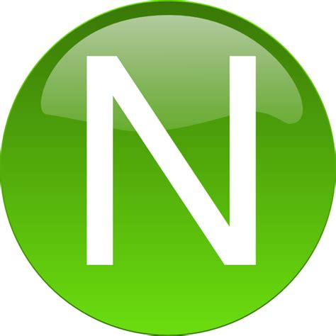 n clipart green n clip at clker vector clip