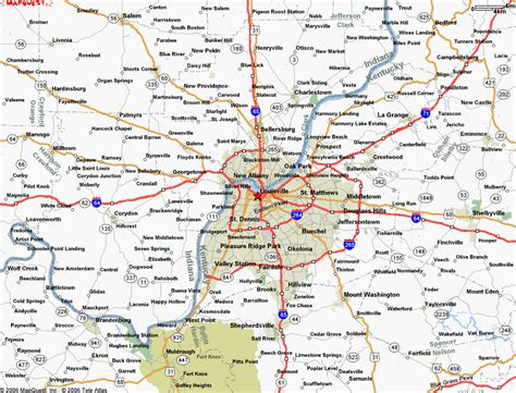 map of louisville ky louisville kentucky map image gallery