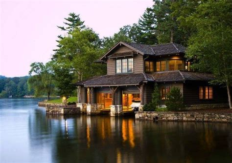Carolina Lake Cabins by Some Of The Most Beautiful Waterfront Log Houses