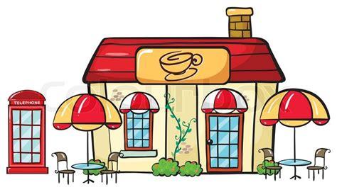 Best Cottage House Plans A Coffee Shop Stock Vector Colourbox